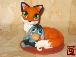 fox reusable cake topper by Luna-cuteXD