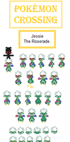 Pokemon Crossing: Jessie The Roserade by SpriteGirl