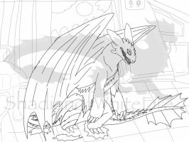 Madness of the Full Moon lineart by BlackDragon-Studios