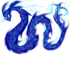 Surreal Dragons- Blue by camospork