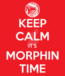 Keep Calm It's Morphin Time (Red) by RussJericho23