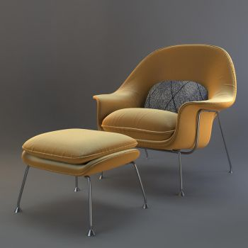 Womb Chair Detail by ZeroPointPolygon