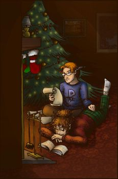 A Percy and Hermione Christmas by AliWildgoose