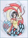 Kaoru and Milotic by psychedelicXmoon