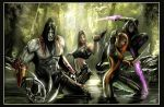 lara croft and cyberforce by nebezial