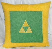 Triforce Pillow by quiltoni