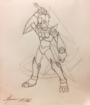 Amaterasu X Zero Fusion (Line Art) by SonGozen
