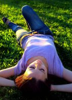 lay on the grass by mini---MIR