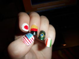 Country / Flags Nailart Part 2 by SutaaFox