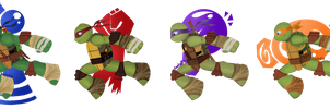 Turtles that run by Doodlz18