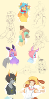 .:Livestream Doodle Dump:. by Pieology