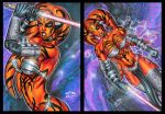 DARTH TALON PERSONAL SKETCH CARDS REVISIONS by AHochrein2010