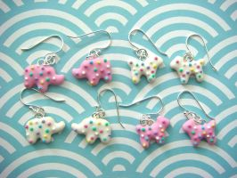 Animal Cookie Earrings by KawaiiCulture
