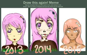 2015 Draw this again meme - Cow girl by belladriel