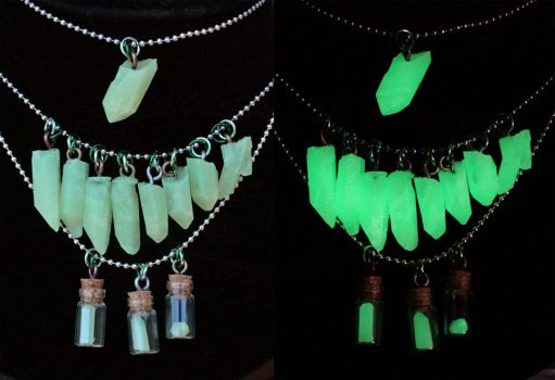 Green Glow Crystals - For Sale by Ichi-Black