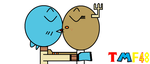Gumball And Unshelled Penny =D by THOMASMARIOFAN48