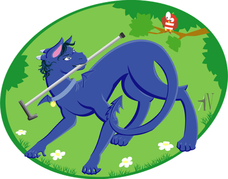 Sherly and a cane by Katze-North