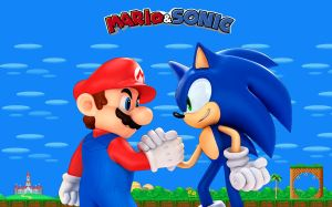Mario and Sonic Unite by earthwormjimfan