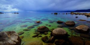 Overcast and Calm at Tahoe by sellsworth