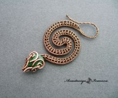snake with malachite by nastya-iv83