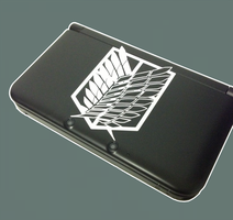 Attack on Titan 3DS XL Decal by jomzypuff