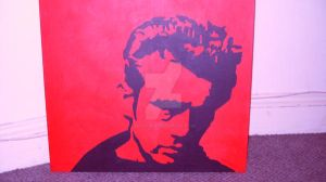 James Dean pop art on canvas by allthingsartistic