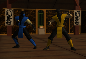 Sub-zero encounters Scorpion by icemember