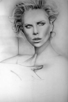 Charlize Theron WIP 03 by OmarCorona