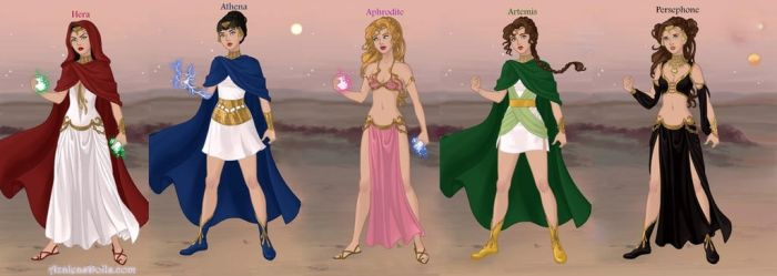 The Olympion Queens and Princesses (version 2) by LadyRaw90
