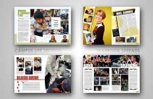 yearbook layouts. by efftee