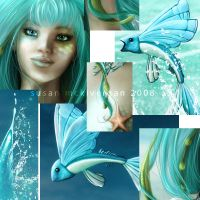 Dance of the Sea Fairy details by cosmosue