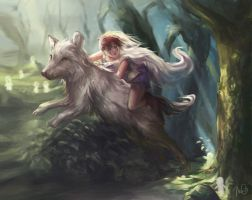 Princess Mononoke by eirlude