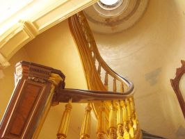 Staircase and skylight by Button-the-random
