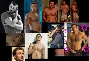 Chris Evans hot collage by slayerxy