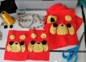 Progress: Red Panda Pouches by CosmiCosmos