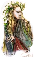 Thranduil sketch by HecticRed