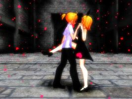 A dance In the rain of hearts by rosegurl1128