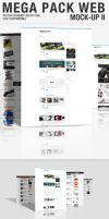 Mega Pack WEB Mock-Up 2 by CarlosViloria