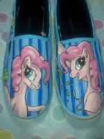 Pinkie Pie MLP Shoes by Acrylicolt