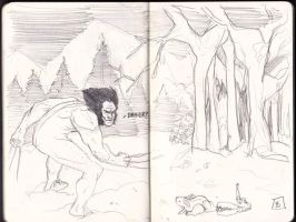 Wolverine and a Bunny. by bfowler