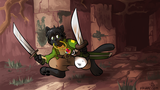 [Commission] Dungeon Explorer Aki by raizy