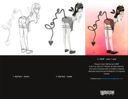 Making of Love Succubus by johnnydwicked