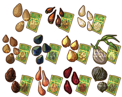 Game Items - Tree Seeds by IntroducingEmy