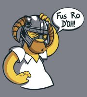 Fus Ro D'OH! by drawsgood