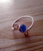 Blue and silver ring by WyckedDreamsDesigns