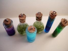 Miniature Potion Charms by TippyDoodles