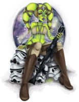 Twi'lek Bounty Hunter by katetak