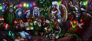 Holiday Elves by LadyofJustice