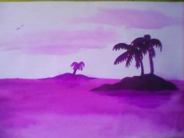 Purple Palms by tessa7338