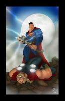 Superman VS Thor by Helmsberg
